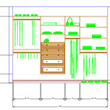 CABINET VISION Solid Standard for Closets CAD elevation view drawing